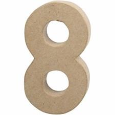 Papptall, 8: 20,5 cm, tykkelse 2,5 cm, 1 stk.