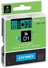 Teippi DYMO D1 9 mm musta vihreällä