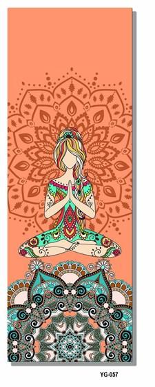 Økologisk Yogamatte av Miljøvennlig Naturgummi med Semsket Skinn på Oversiden Tykkelse 6 mm. 180 X 61 cm