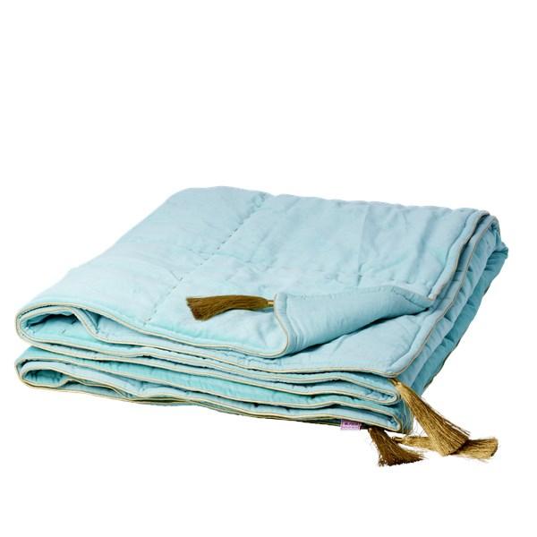 Sängöverkast Sammet  Mint  Rice - barnsängkläder