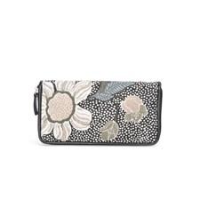 Ceannis Flower Linen Wallet Black