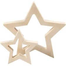 Stjärnor i Plywood 2 st