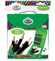 Piirustuskynät Cool Art Sketching Pencil Keep & Carry Set, Royal & Langnickel