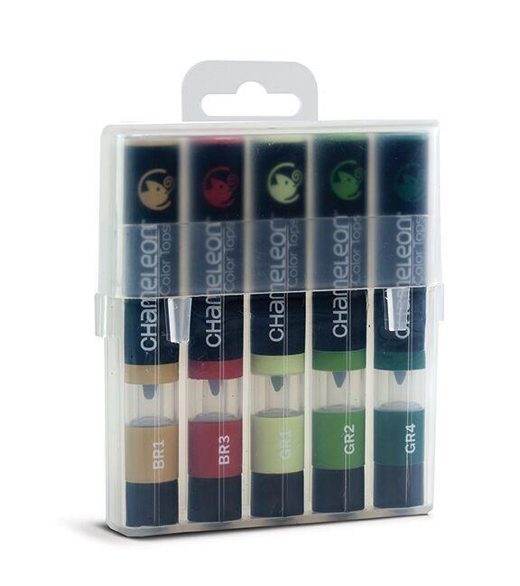 Chameleon Color Tops Pen Marker Tusj - Nature Tones