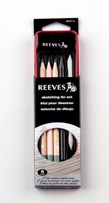 Skisspenna Reeves 6-pack i plåtask