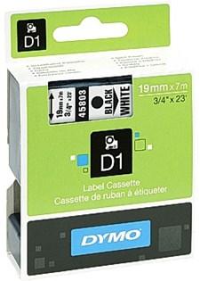 Teippi DYMO D1 9mm musta valkoisella
