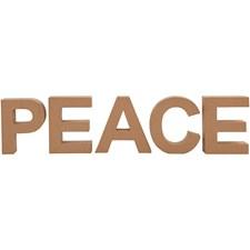 Bokstäver av Papier-Maché PEACE 17,5 cm 1 Set