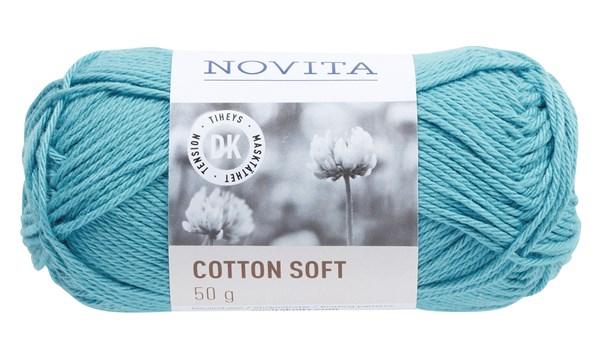 Novita Cotton Soft Bomullsgarn 50 g vatten 120