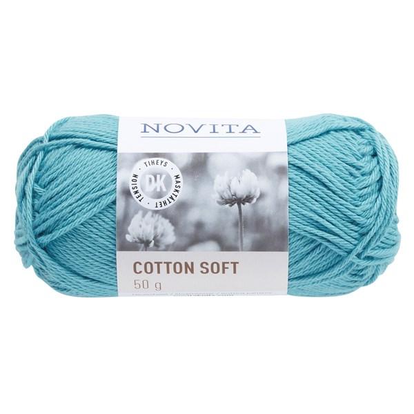 Novita Cotton Soft puuvillalanka 50 g vesi 120