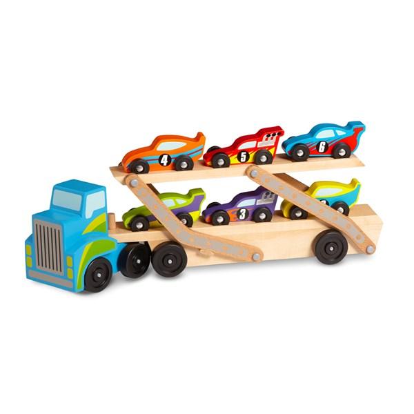 Mega Race Car- Biltransportbil  Melissa & Doug - leksaksbilar & fordon