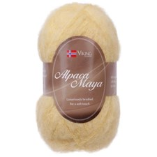 Viking of Norway Alpaca Maya 50 gr Gul 744