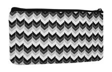 Pennfodral zick zack Sv/Vit textil