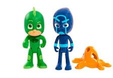 Figurset 2-pack, Gecko VS Night Ninja, Pyjamashjältarna