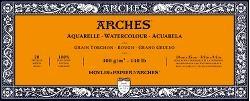 Arches Rough Block för Akvarellfärger 300g 10x25 cm 20 ark limmade på 4 sidor