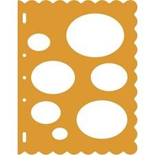 Muotosablonit, ovaalit, arkki 23x30,5 cm, 1 kpl