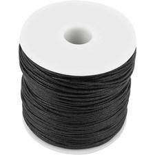 Puuvillanyöri, paksuus 1 mm, 100 m, musta
