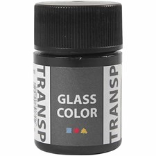 Glasfärg Transparent 35 ml Svart