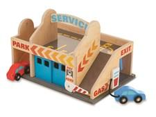 Parkeringshus med bensinstasjon og bilvask, Melissa & Doug
