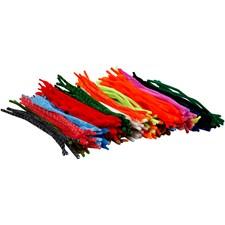 Piprensare, tjocklek 5-12 mm, L: 30 cm, mixade färger, 500mix.