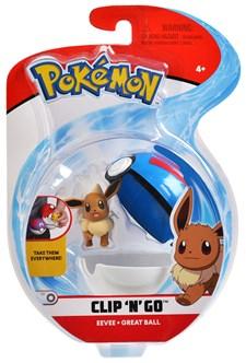 Pokémon Clip N Go, Eevee & Great ball