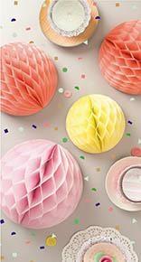 Honeycomb, Ball, 3 stk., 30/25/20 cm, Sommer, Rico Design