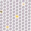 Bomullstyg Blommor 50x160 cm Vit/Neoncerise