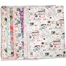 Mønstrete papir, 51x75 cm, 60 g, 150 ass. ark