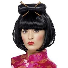 Peruk Geisha Svart