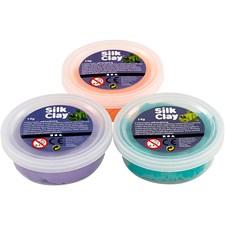 Silk Clay®, 3x14 g, grön, lila, neonorange