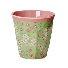 Rice Butterfly & Flower Mugg 9 cm