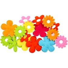 Applikation Filt Blommor Mix 16 st