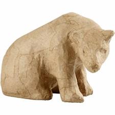 Isbjörn av Papier-Maché 10 cm 1 st