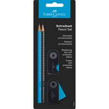 Sparkle set blyertspenna + suddgummi + vässare Blå/svart