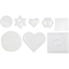 Pärlplattor 7-15 cm Transparent Mix 8 st