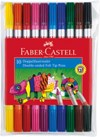 Fiberpenna Dubbelspets Faber-Castell 10-pack