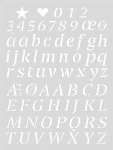 Schablon Medium 18,5x24,5 cm Brev