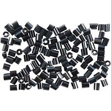 Rocaille-siemenhelmet, koko 8/0, aukon koko 0,6-1,0 mm, 25 g, metallinen musta