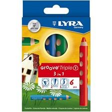 Groove Triple1-värikynät, 10 mm, pit. 12 cm, 6 laj., värilajitelma