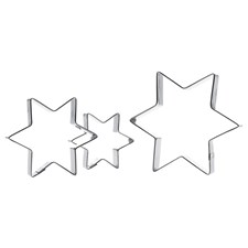 Pepperkakeformer, Stjerne, 3 stk., Rustfritt stål, GastroMax