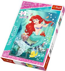 Maxi-puslespill, 24 brikker, Ariel Beauty Salon, Disney Princess