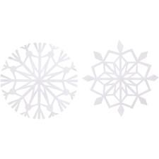 Lumihiutaleet, 14 cm, 100 g, 4 laj., valkoinen