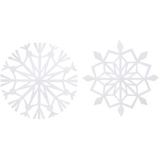 Snöflinga, dia. 14 cm, 100 g, 4 mixade, vit