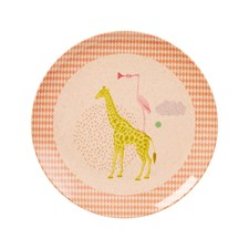 Rice Animal Print Tallrik Orange