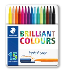 Triplus® color 15-pack i metallask Staedtler 1 mm fiberspets.