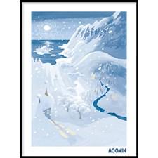 Muumit Juliste Talvi Muumilaaksossa 30x40 cm