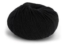 Knit At Home Superfine Baby Merino Ullgarn 50 g Svart 201