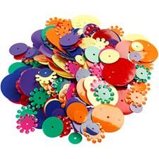 Paljetter Mix 10-25 mm 35 g
