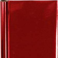 Presentpapper, B: 50 cm, 65 g, 4 m, röd