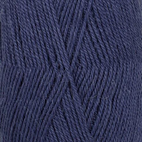 Drops Flora Uni Colour Garn Ullmix 50g Indigo 10