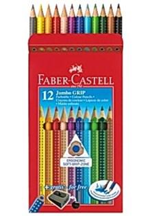 Färgpennor Faber- Castell Jumbo Grip 12 Färger